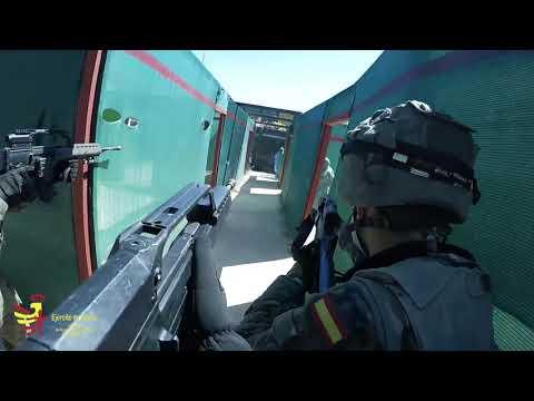 """La Brigada """"Guzmán el Bueno"""" X se entrena en combate en recintos cerrados"""