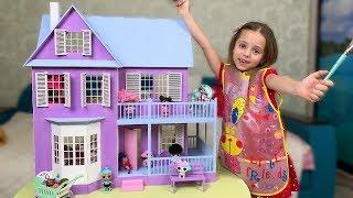 ДОМИК для кукол ЛОЛ Красим своими руками ИГРОВОЙ домик с мебелью Для детей