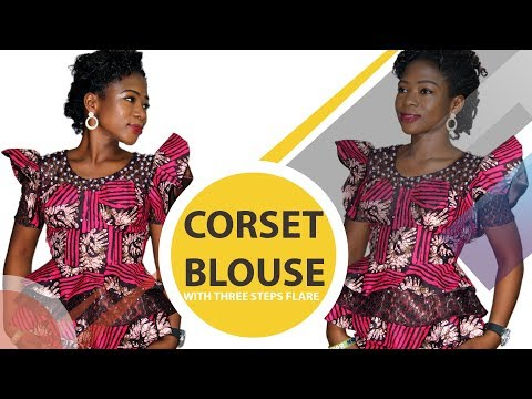 How To Cut A Corset Bra (Bustier) Blouse With Three Steps Flare (PT 1)