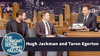 Hugh Jackman and Jimmy Try Pronouncing Taron Egerton's Hometown