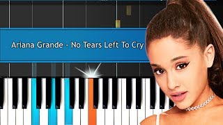 """Ariana Grande - """"No Tears Left To Cry"""" Piano Tutorial - Chords - How To Play - Cover"""