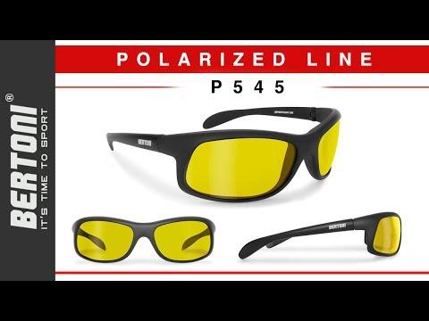 P545 Occhiali Pesca, Sci, Sport acquatici, Guida auto e Moto Polarizzati by Bertoni