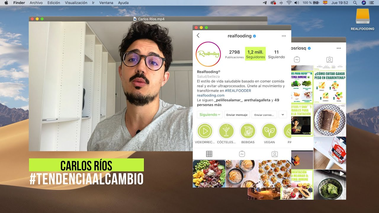 Interview with Carlos Ríos: and you, do you eat real food?
