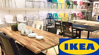 IKEA KITCHEN TABLES CHAIRS ARMCHAIRS FURNITURE HOME DECOR SHOP WITH ME SHOPPING STORE WALK THROUGH