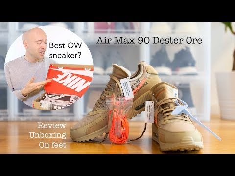 Off White Nike Air Max 90 Desert Ore Doctor Soles11 Video