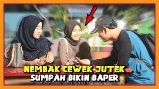 Gila !!! PRANK NEMBAK WANITA CANTIK SUPER JUTEK GAK DIKENAL - Prank Indonesia