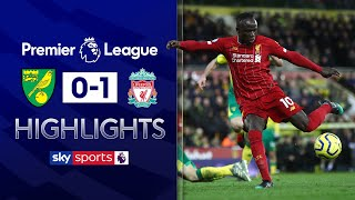 SUBSCRIBE ► http://bit.ly/SSFootballSub PREMIER LEAGUE HIGHLIGHTS ► http://bit.ly/SkySportsPLHighlights  Liverpool took another stride towards the Premier League title as they overcame Norwich 1-0 at a blustery Carrow Road thanks to Sadio Mane's second-half strike.  Watch Premier League LIVE on Sky Sports here ► http://bit.ly/WatchSkyPL ►TWITTER: https://twitter.com/skysportsfootball ►FACEBOOK: http://www.facebook.com/skysports ►WEBSITE: http://www.skysports.com/football  MORE FROM SKY SPORTS ON YOUTUBE: ►SKY SPORTS FOOTBALL: http://bit.ly/SSFootballSub ►SKY SPORTS BOXING: http://bit.ly/SSBoxingSub ►SOCCER AM: http://bit.ly/SoccerAMSub ►SKY SPORTS F1: http://bit.ly/SubscribeSkyF1
