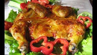 ЦЫПЛЕНОК ТАБАКА С ЧЕСНОЧНЫМ СОУСОМ ПО ГРУЗИНСКИ Блюда из птицы Праздничные блюда Грузинская кухня