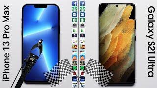 Apple iPhone 13 Pro Max vs Samsung Galaxy S21 Ultra 5G Speed Test