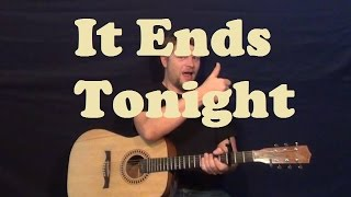 It Ends Tonight (The All-American Rejects) Easy Strum Guitar Lesson How To Play Tutorial
