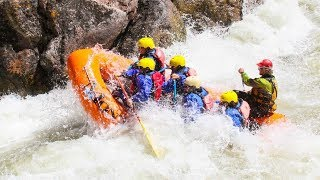 Rafting the Gallatin River near Big Sky, Montana