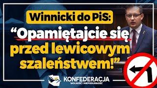 Winnicki: Uderzacie w setki tysięcy miejsc pracy na wsi!