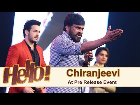 Chiranjeevi At Hello Pre Release Event