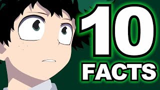 Top 10 DEKU Facts You Didn't Know! (My Hero Academia / Boku no Hero Academia Izuku Midoriya Facts)