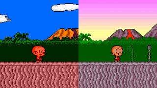 Bonk's Adventure / B.C. Kid / PC-Genjin - All Versions Gameplay HD