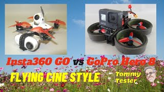Insta360 GO vs. GoPro Hero 8 | FPV Cinewhoop Style footage comparison