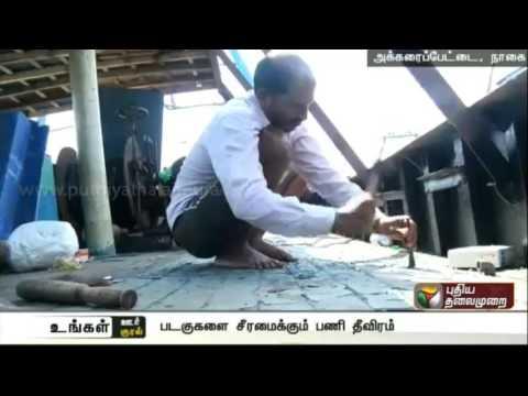 Fishing-ban-to-be-over-Boats-repair-in-full-swing-at-Nagapattinam