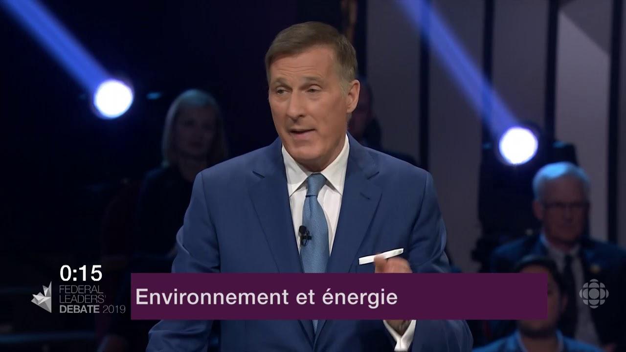 Maxime Bernier répond à une question d'un citoyen sur le changement climatique