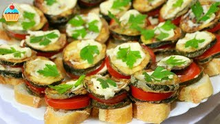 Смотреть онлайн Как приготовить бутерброд с кабачком и помидором