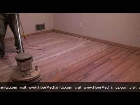 How to Buff Between Coats of Finish with Dustin by FloorMechanics.com