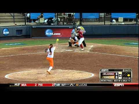 Softball National Championship Game 2: Lady Vols vs Oklahoma Highlights