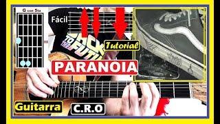 Cómo Tocar PARANOIA C.R.O 🎸[GUITARRA] Tutorial Acordes Para Cover Crocraxker