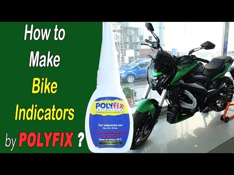 Cyanoacrylate Glue to Make Bike Indicators