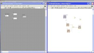 Simple Calculator in Labview.mp4