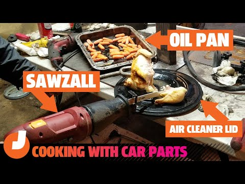 Here's What Happened When We Cooked A Meal Using Car Parts And Garage Tools