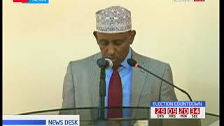 Garissa county governor gives an address during the county assembly opening