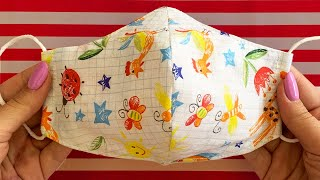 Very Easy New Style Pattern Mask - Face Mask Sewing Tutorial - Make Fabric Face Mask At Home