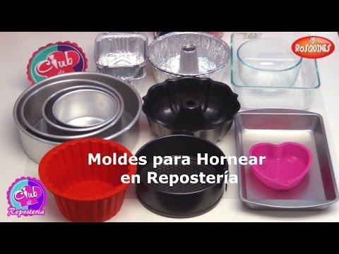 Moldes para Hornear en Reposteria - Tipos de Moldes para Tortas o Pasteles