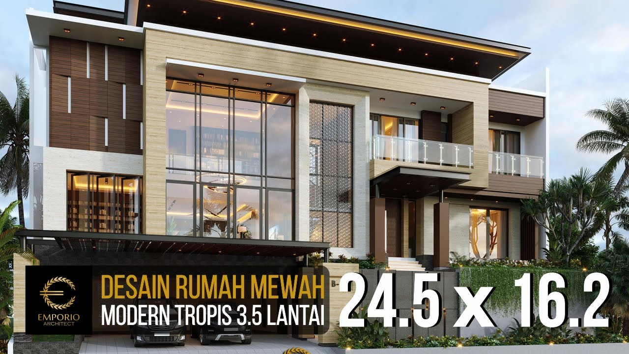 Video 3D Desain Rumah Modern 3.5 Lantai Bapak V di Jakarta Timur