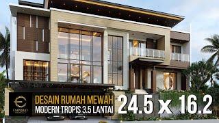Video Desain Rumah Modern 3.5 Lantai Bapak V di  Jakarta Timur