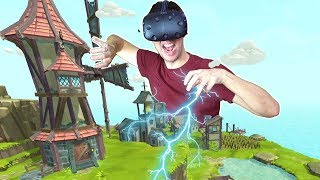 BECOMING THE ALL POWERFUL GOD OF A CIVILIZATION IN VR! - Townsmen VR HTC VIVE Gameplay