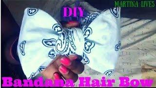 DIY: Bandana Hair Bow ( No Sewing or Glue )