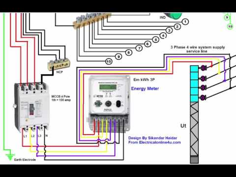 Mcb box connection in hindi 3 phase wiring installation in house 3 phase distribution board diagram urdu hindi asfbconference2016 Choice Image