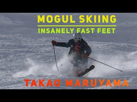 Insane foot speed mogul skiing - Takao Maruyama