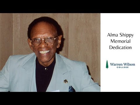 Alma Shippy Memorial Dedication