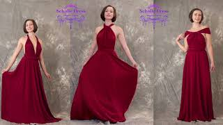 ScholleDress |15+ Ways To Wear The  Infinity/Convertible Dress,Bridesmaid Dress