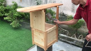 Amazing Woodworking Ideas From Pallets // How To Make Amish Ironing Board - Step Stool - DIY!