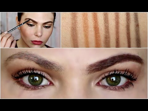 nyx makeup eyebrows. drugstore brow routine \u2022 nyx micro pencil demo swatches comparison vs. nyx makeup eyebrows