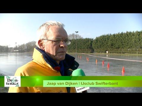 VIDEO | Swifterbant laat zich door kraken van het ijs niet tegenhouden