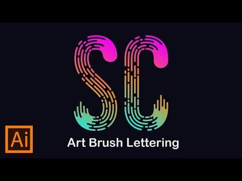 brush lettering art adobe illustrator tutorial