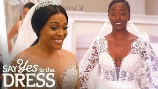 Lace Wedding Dress Vs Sparkly Wedding Gown | Say Yes To The Dress