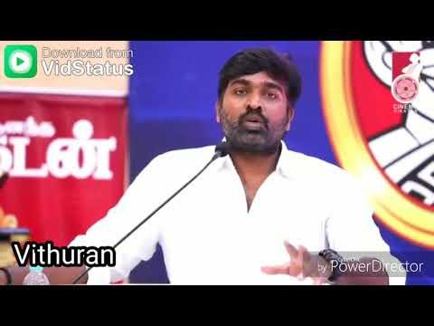 Vijay Sethupathi Mass Speech | friendship | whatsapp status