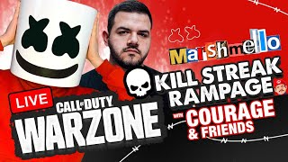 🔴Marshmello's Call of Duty Kill Streak Rampage w/ Courage, Nadeshot & TimTheTatman
