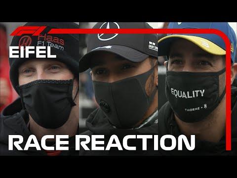 レース後のプロドライバーのインタビュー映像。F1 ドイツGP2020