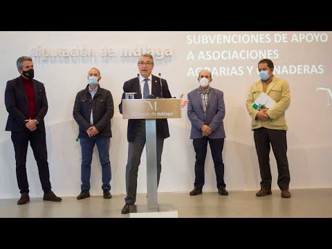 Presentación de subvenciones a asociaciones agrarias y ganaderas de la provincia de Málaga