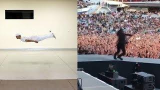 Невероятный танец в Slow-motion / розыгрыш от Foo Fighters во время концерта